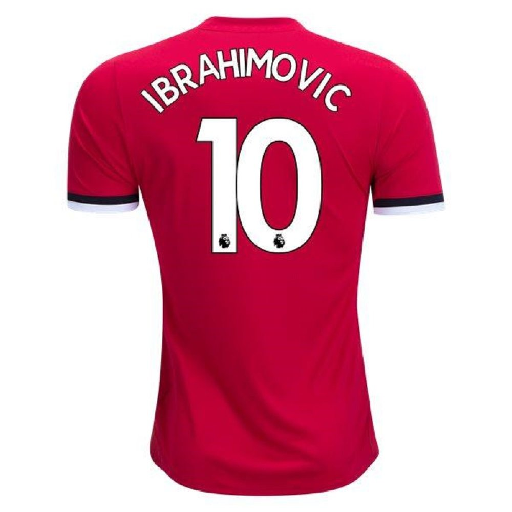 Manchester United #10 Ibrahimovic Soccer Home jersey t-shirt kid youth for age 10-12