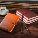 NEW Brown PU Leather Lined Paper Diary Journal Business Notebook to Write in A 5