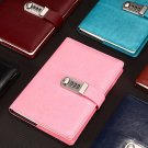 Combination Lock Journal Leather Cover Binder Blank Diary Writing Notebook 1 PC