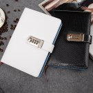 A5 Synthetic Leather Password Lock Diary Journal Blank Notebook Lined Paper 1 PC