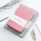 Partysu Style Fabric Cover Blank Journal Ruled Diary Book 3.8 x 6.9 inch 1 Piece