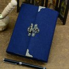 Vintage Refillable Journal Paper with Lock and Key Handwritten Blank Diary Book