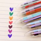 2 PCS Six Colors 0.5 mm Gel Ink Ballpoint Pen Blue Cyan Orange Black Red Purple