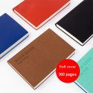 Classic Soft PU Leather Notebook Ruled Journal Diary Book A 5 360 Pages 1 PC