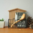 Wood Wall Floating Shelf with Iron Book/Stuff Storage  for Living Room & School