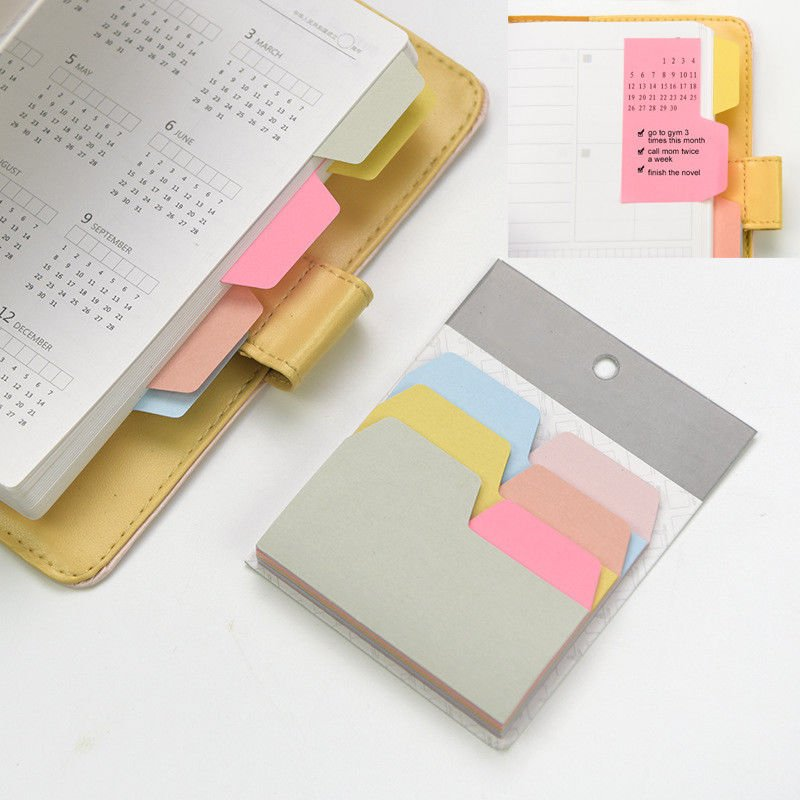 90 Sheets Sticky Index Note Cards, 6 Colors Assorted Tabs for Notebooks & Files