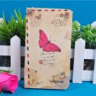 Hardcover pocket memo book - Colored Butterfly Cardbord Cover 7.6cm*13.5 cm