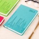 2018 Daily Planner A5 Faux Leather Diary January 2018 to December 2018 - Cyan
