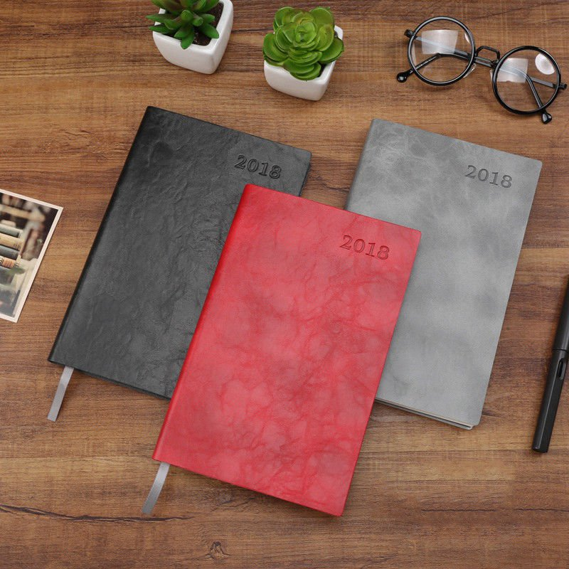 A5 Soft Leather Cover Planner 2018 Weekly Monthly Diary Journal Personal Agenda