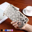 Long Women's Wallets with 5.5 inch Phone Ho Stones Leather Credit Card Purse