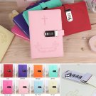 Blank Locking Notebook Diary Gospel Cross Leather Cover Lined Page Journal Gifts