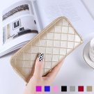 Women Leather Credit Card Wallets with 5.5 inch Phone Holder Zipper Around Purse