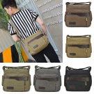 Men's Canvas Shoulder Bag Crossbody Hiking Military Messenger Bag Sling Satchel