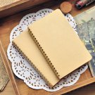 "Kraft Cover Notebook Bulk Sprial Memo Pad 3.4""x 5.8"" Pocket Sketchbook 200 pages"