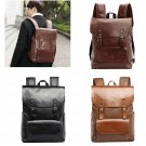 Retro 13L Faux Leather Backpack School Bag Bookbag Daypack Rain Proof 3 Colors