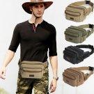 Men's Vegan Canvas Waist bag for Hiking Business Bum bag Fanny packs Chest Bag