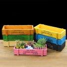 Rustic Wood Planter Colorful Succulent Planter Box Country Windowsill Flower Pot