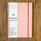 A5 Size Paper Ring Dot Grid Spiral Journal , Dotted Wirebound Notebook, Pink