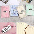Marble Faux Leather Password Lock Journal School Sudent Diary for Boys or Girls