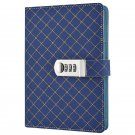 Secret Combination Lock Diary Notebook Leather Cover, A5 224 Pages, Gift for boy
