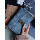 Retro Leather Vintage Journal Notebook Lined Paper Diary Planner With Lock