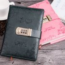 Retro Europe Style Journals Locked Notebook Diaries PU Cover Writing Lined Page