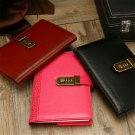 A5 Retro Leather Vintage Journal Notebook Lined Paper Diary Planner with Lock