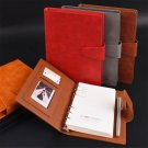 PU Leather Refillable Vintage Journal Notebook Lined Paper Diary Planner Buckle