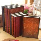 A5 Retro Hard Cardboard Cover Notebook Vintage Journals Writing Lined Diaries
