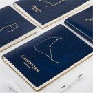 """12 Constellation"" Blue Leather 1pc Planner Agenda Lined Paper Diaries Notebook"