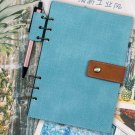 A5 Vintage Retro Leather Cover Journal Notebook Lined Paper Diary Planner