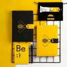 """Honeybee"" Leather Cover Journals A6 Notebook Diary Planner Personal Recording"