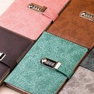 PU Leather 1pc Notebook Paper Journal Diaries Writing Books Planner With Lock
