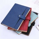 PU Leather Vintage Journal Notebook Lined Paper Diary Planner w/ Pocket A5