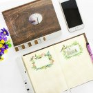 Combination Lock Portable Notebook Paper Diary Notepad Journal Planner Note Pad
