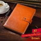 Brown PU Leather Lined Paper Diary Journal Business Notebook for man and women