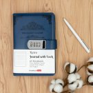 Blue Vintage Secret Journal Diary with Lock A5 Retro Leather Lined Page Notebook