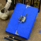 Royal Blue Cover Journal for Women Spiral Bound Diary with Unique Lock and Key