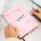 Marbling Leather Writing Journal Notebook with Lock Password Lock Personal Diary