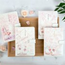 """""""Sakura and Cat"""" Leather Cover Daily Journal for Grils, 224 Pages Thick Paper"""