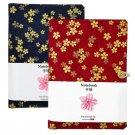 Handmade Bullet Journal Refillable Dotted Paper Notebook, A5 Sakura Fabric Cover