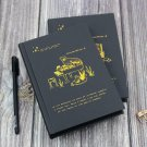 Black Notebook with Black Paper, 256 Pages Blank Black Paper for Drawing