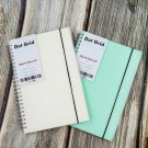 A5 Dot Grid Spiral Bound Notebook for Bullet Journal, Ligth Gray Dots Hardcover