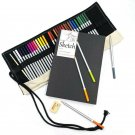 Art Design Drawing Kit: 36 Watercolor Pencils with Pencil Case and B5 Notebook