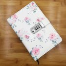 Elegant Rose Leather Serect Notebook with Password Lock for Girls, 200 Pages