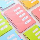 Hard Cover spiral notebook 5 subject Wide Ruled Notebook for Writing, 240 Pages