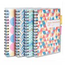3 Subject Spiral Notebook with Pocket Dividers, 230 Pages Wide Ruled Paper, B5