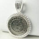 Netherland Antillean Guilder 10 Cent Coin Pendant Coin jewelry