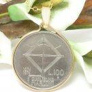 100 Lire Commemorative Italian Coin Pendant Guglielmo Marconi Coin jewelry