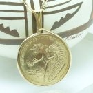 Sacagawea Golden One Dollar 2012 Coin Pendant Native American